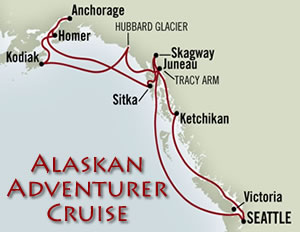Alaskan Adventurer Cruises From Holland America for 2010.